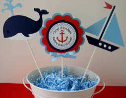 nautical theme baby shower nautical baby shower or birthday party personalized centerpiece