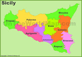 Italy Regions Map by Sicily Maps Italy Maps Of Sicily Sicilia