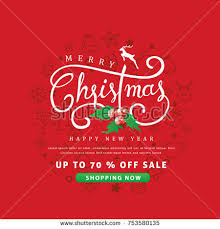 discount christmas cards merry christmas happy new year sale stock vector 753580135