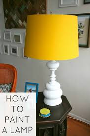How To Paint A Table How To Paint A Lamp C R A F T