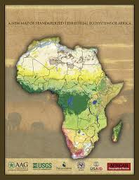 Africa Geography Map by Stunning New African Ecosystem Maps Arcnews