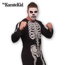 Karate Kid Costume Cobra Kai Skeleton Costume Karate Kid Skeleton Costume With
