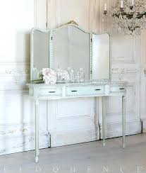 Tri Fold Bathroom Mirror by Vanity Table With Trifold Mirror Eloquence One Of A Kind Vintage