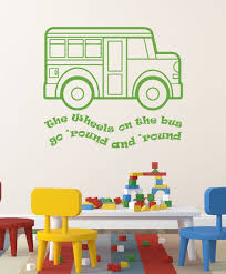 Nursery Rhyme Wall Decals Nursery Rhyme Wall Decals The Wheels On The Song