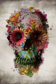 floral skull pictures photos and images for