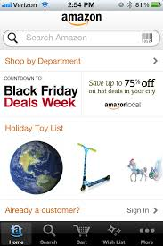 amazon black friday sale 2012 amazon changed holiday shopping forever now app showdown is on