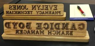 Desk Name Plates Wood What A Custom Desk Name Plate Says About You Plates For Brilliant