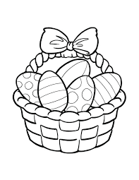 blank easter baskets easter basket coloring pages easy basket coloring pages of eggs