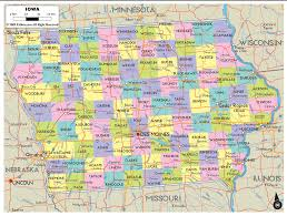 Iowa Map Usa by Detailed Clear Large Map Of Iowa Ezilon Maps
