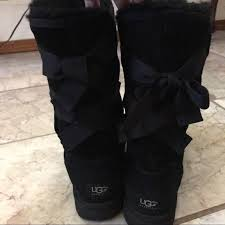 ugg bailey bow black sale 81 ugg shoes sale ugg bailey bow black boots from mk s