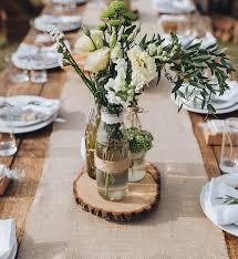 wood centerpieces 9 set of 15 tree slices wedding centerpieces wood