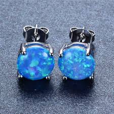 blue opal earrings earrings