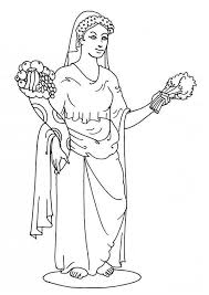 free printable greek goddess coloring pages 460847