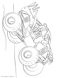 monster truck racing coloring page