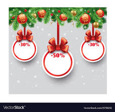 gift card sale christmas sale gift card with ribbon vector image