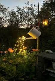 Country Backyards Glowing Watering Can With Fairy Lights Clever Crafts Pinterest