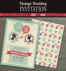 vintage wedding invitation 23 vintage wedding invitation free psd format free