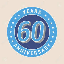 60 years anniversary 60 years anniversary vector icon emblem design element with