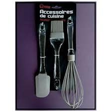 lot ustensile de cuisine ustensiles de cuisine set 3 accessoires 1 fouet batteur à