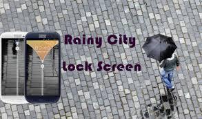 theme lock apk rainy city theme lock screen apk download free tools app for