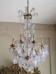 Bronze And Crystal Chandeliers Antique Crystal U0026 Iron Chandeliers