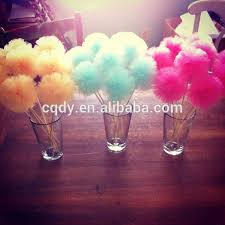 tulle decorations tulle hanging pom pom for wedding decoration colorful tutu