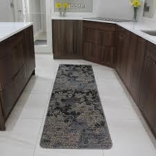 Modern Kitchen Rug Brown Rubber Backed Modern Kitchen Rug Flat Weave Easy Clean