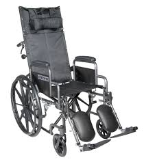 Recliner With Wheels Drive Medical Silver Sport Reclining Wheelchair With Elevating Leg