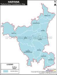 2014 Election Map by Haryana General Lok Sabha Elections 2014 Haryana Parliamentary