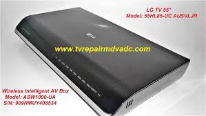sony kds 60a3000 l replacement instructions lg 55hl85 uc wireless intelligent av box asw1000 ua for parts or