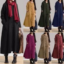 uk 8 24 zanzea women hooded casual loose long maxi dress coat