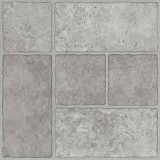Peel And Stick Floor Tile Reviews Trafficmaster Bodden Bay 12 In X 12 In Grey Peel And Stick Vinyl