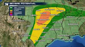 Weather Map Austin by Alert High Risk Of Severe Weather Thursday Weathernation