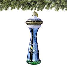 seattle space needle glass ornament