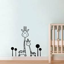 Giraffe Wall Decals For Nursery Vinyl Wall Decal Removable Giraffe Wall Sticker Baby Nursery