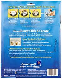 avery design pro avery cd labels inkjet glossy 20 pack white 8942