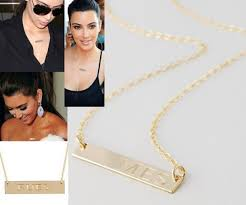 personalized bar necklace gold jewels personalized gold bar necklace wheretoget