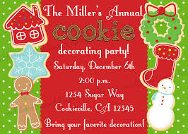 christmas cookie decorating party invitation print your own