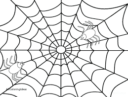 Spider Web Coloring Page Hiseek Info Web Coloring Pages
