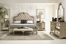 Bernhardt Armoire Bernhardt Campania Upholstered King Weathered Sand Panel Bed