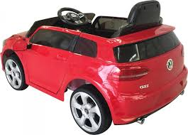 red volkswagen golf vw golf gti licensed 12v electric ride on car red