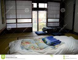 chambre japonaise chambre à coucher japonaise image stock image du retrait
