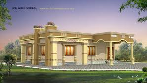 Front Elevation Single Floor House Kerala Gallery Plans Sq Ft