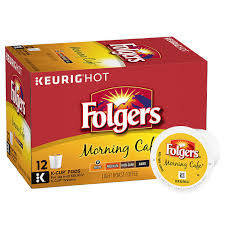 keurig k cups light roast folgers coffee gourmet selections morning cafe light roast kcups 12
