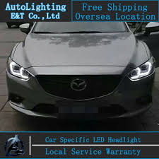mazda car buy aliexpress com buy car styling head lamp for mazda 6 led