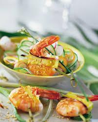 recette de cuisine thailandaise recette brochettes de crevettes à la thaïlandaise