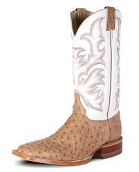 justin aqha remuda series men u0027s full quill ostrich boots fort