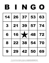 9 best images of printable bingo game cards free printable