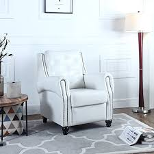 White Leather Accent Chair White Leather Chairs