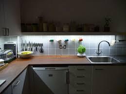 led strip lights under cabinets for decorative kitchen idea led